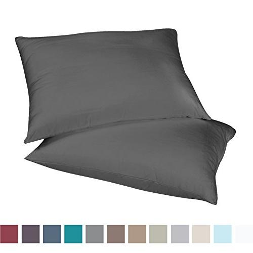 Empyrean Bedding 2 King-Size Microfiber Hypoallergenic & Breathable Design, Comfortable Charcoal