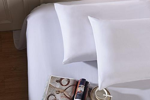 Lullabi Bedding Microfiber Soft Pillow Case Set - Envelope Closure Wrinkle, Fade,