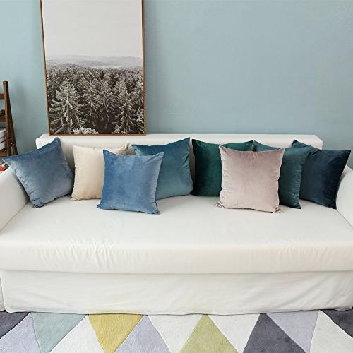 MIULEE Velvet Square Set Cushion for Sofa Bedroom Car18 x Inch x