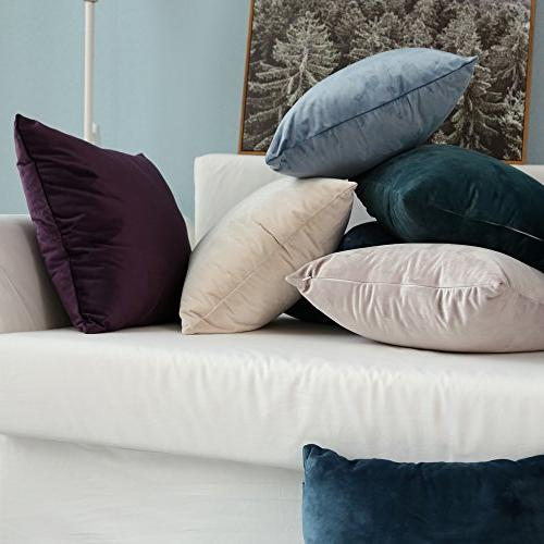 MIULEE 2, Velvet Soft Square Throw Set Cushion Pillowcases for Sofa x Inch x 45 cm