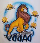 Airbrushed Personalized Lion King Daddy Kids T-shirt Bodysui