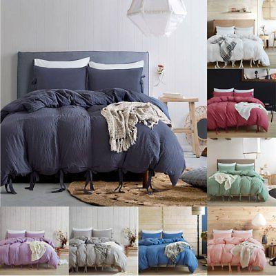 All Duvet Cover With Quilt Cover Bedding Single Double US