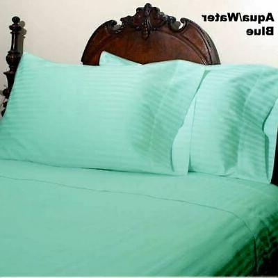 aqua striped extra deep pkt sheet set