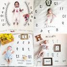 Baby Infant Clock Muslin Cotton Swaddle Blanket Photography
