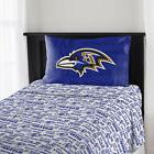 Baltimore Ravens NFL Sheet Set Twin Flat Fitted Team Logo Be