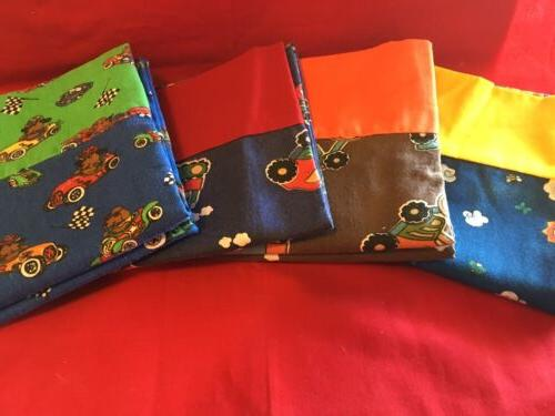 boys pillow case blue brown one pair