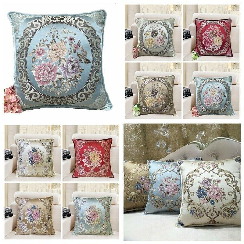brocade vintage jacquard luxury throw pillow cover