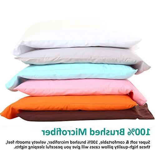 "NTBAY Pillowcases Set of 4, Soft and Fade, Resistant, 30"", Dark Grey"