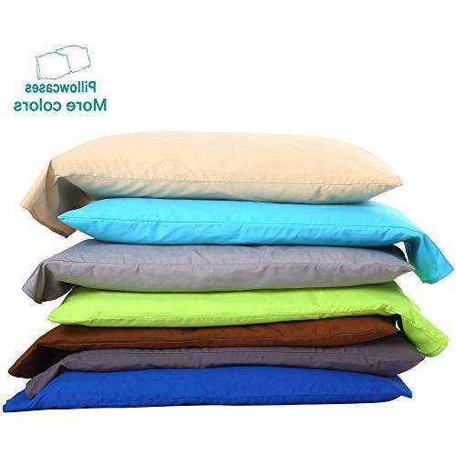 """NTBAY Pillowcases Soft Cozy, Fade, Stain Resistant, 20""""x 30"""", Grey"""