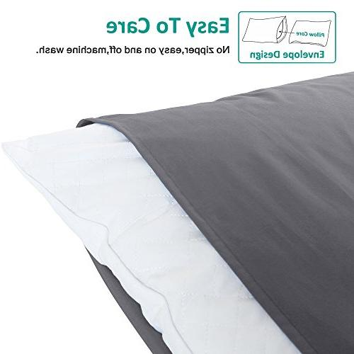 "NTBAY 100% Pillowcases Set 4, Soft Cozy, Wrinkle, Fade, 30"","