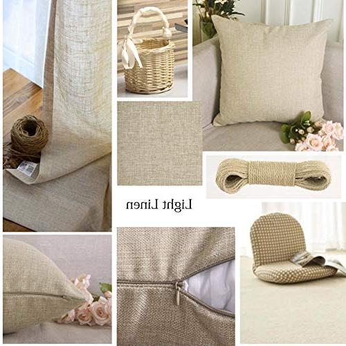 HOME Decorative Linen Cases Burlap Accent Pillows Cushion Covers of Light 18 18 inch, 45