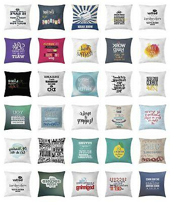 Calligraphy Throw Pillow Cases Cushion Covers by Ambesonne D