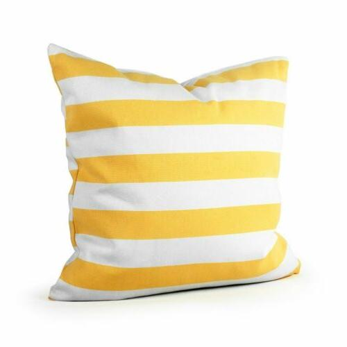 canvas stripe pillow case pillowcases
