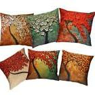 Classic Cozy Pillow Case Sofa Flower Tree Waist Throw Cushio