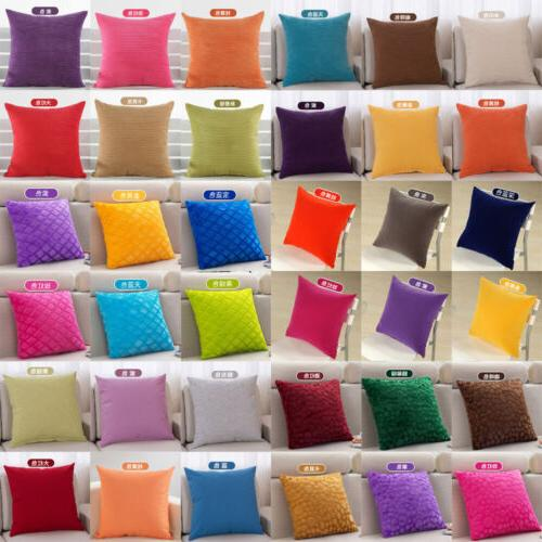 Classic Solid Velvet Throw Pillow Cushion Case Cover Concise