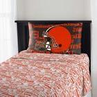 Cleveland Browns NFL Football Fan TWIN Sheet Set Flat Fitted