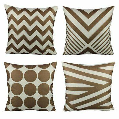 coffee chocolate color decorative throw pillow cases