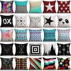 Colorful Geometric Cotton Linen Pillow Cases Sofa Car Throw