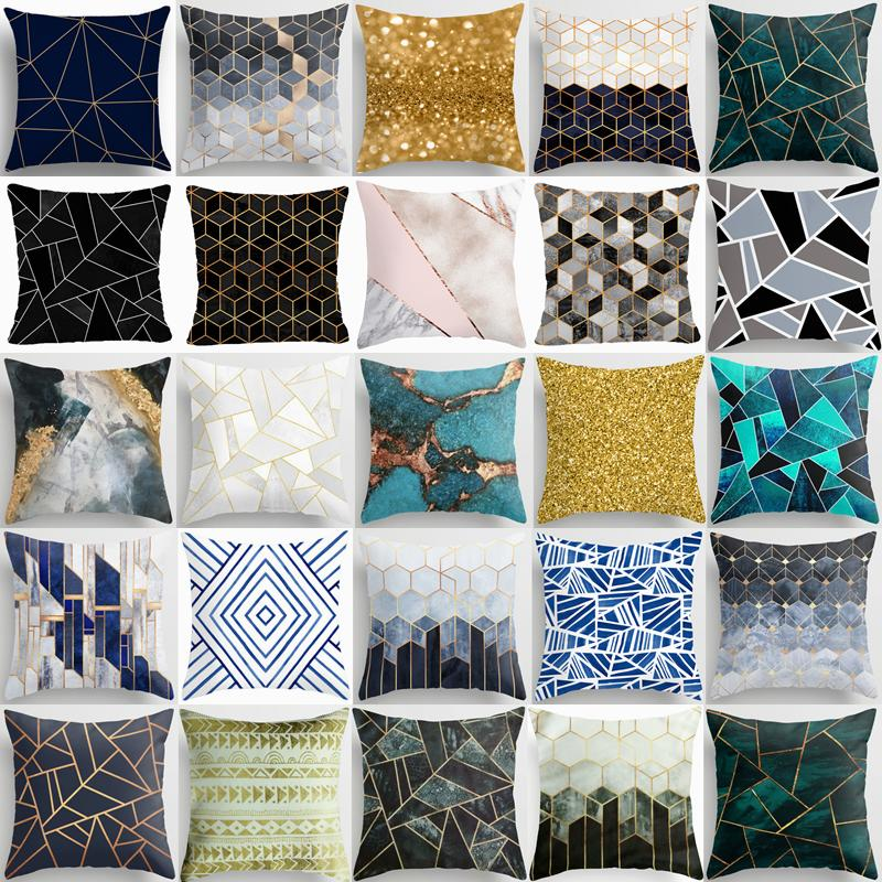 cushion cover marble abstract home decor decorative