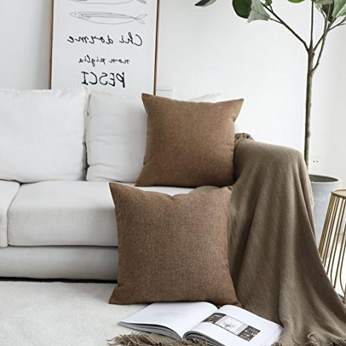 HOME Pillow Case Cover for Sofa, Brown, x 18""