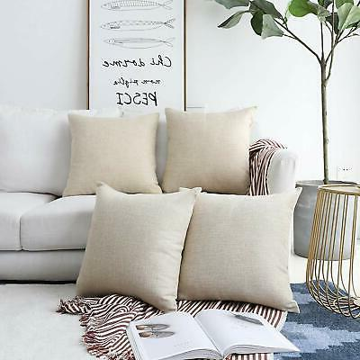 decorative lined linen square throw