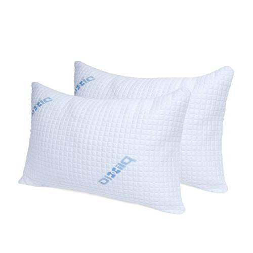Plixio Deluxe Cooling Shredded Memory Foam Pillow with Bambo