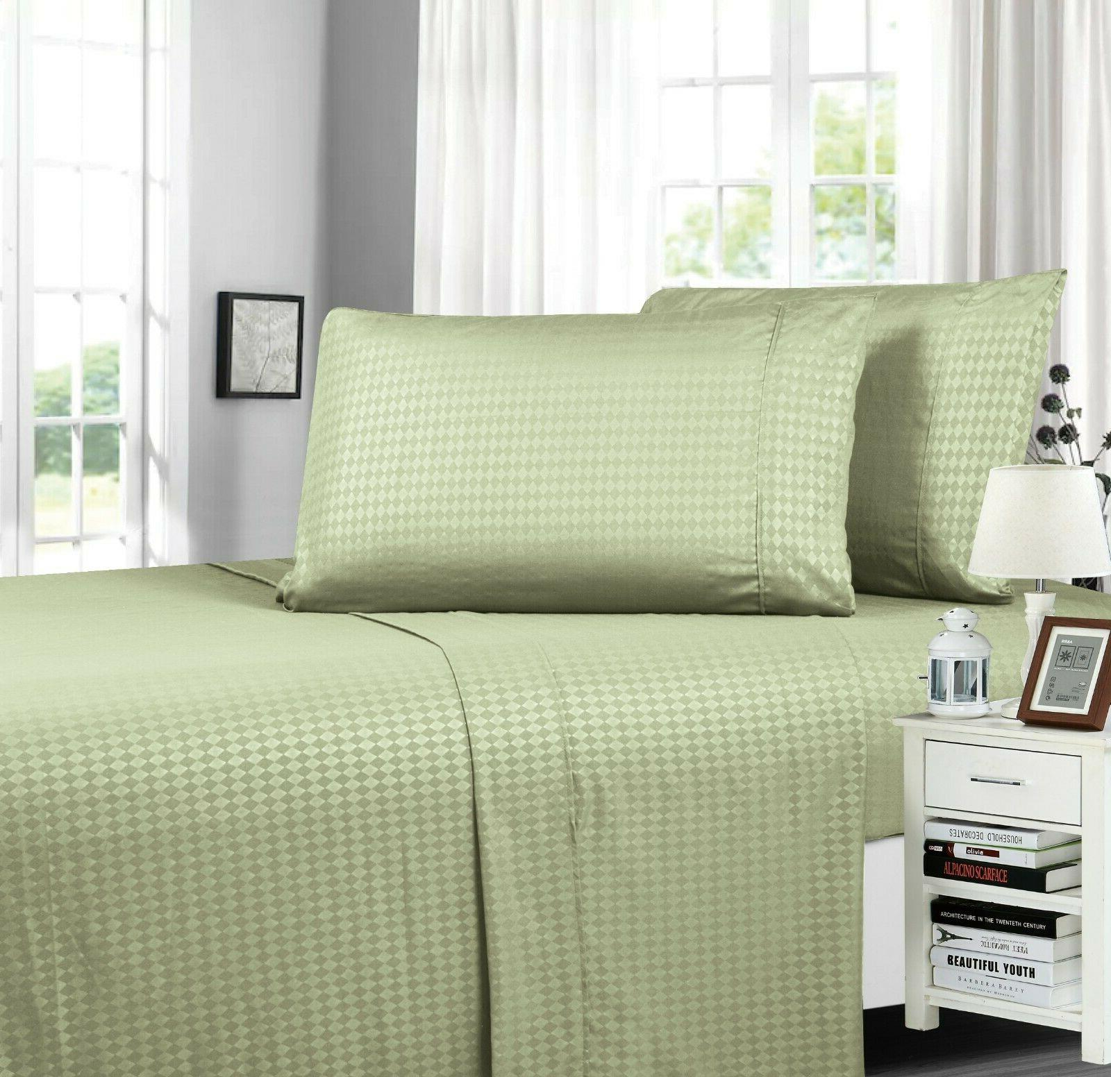 diamond embossed collection 4 piece bed sheet