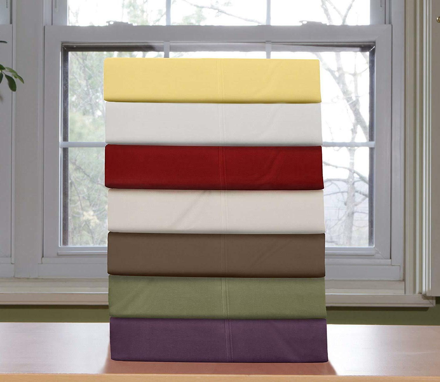 Egyptian Comfort 1800 Count Sheet Set Bed