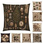 EP_ Vintage Animal Plant Print Pillow Case Linen Cushion Cov