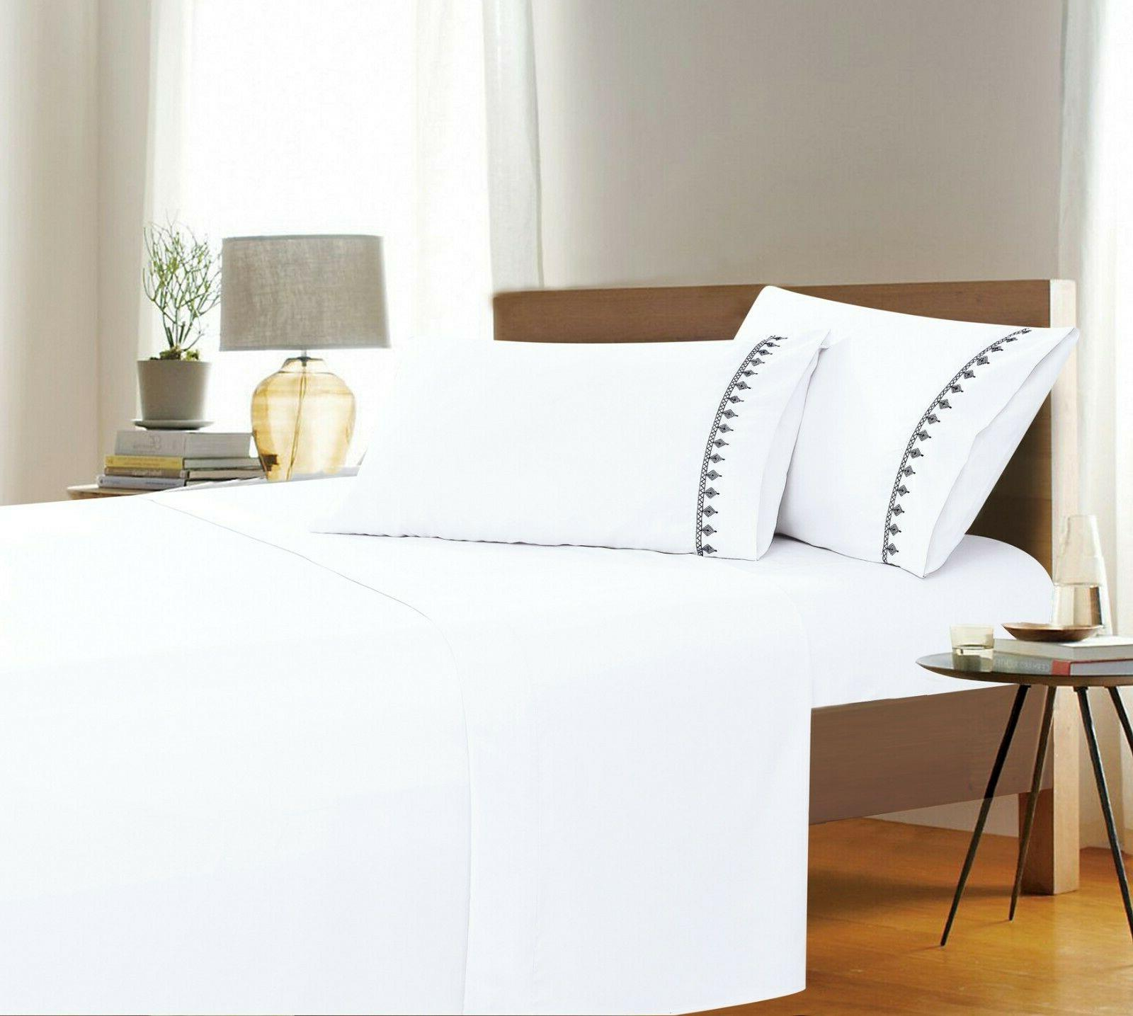 evil eye embroidered collection 4 piece bed