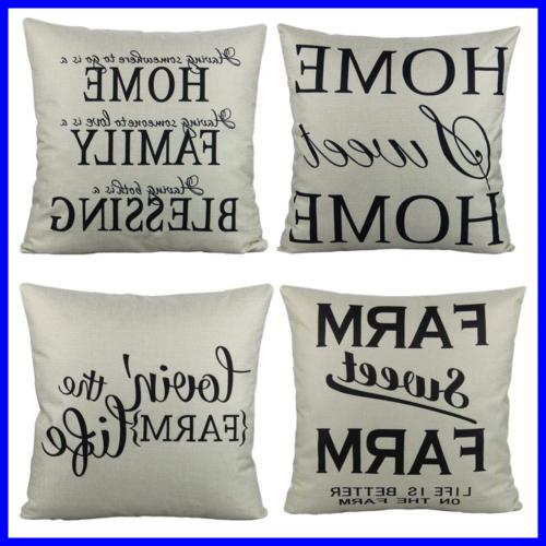 farmhouse style rustic decorative throw pillow cases