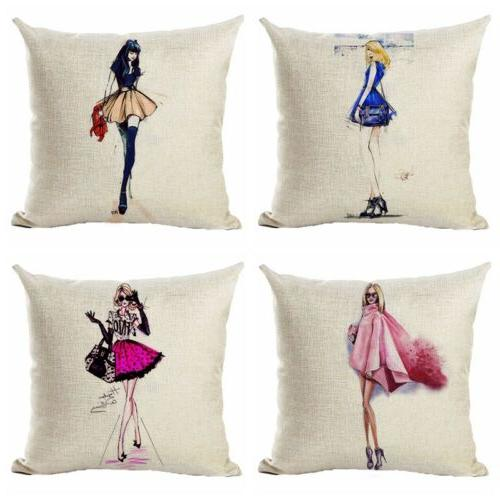 fashionable city women couch pillow cases square