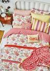 Helena Springfield FAY Coral Pink Floral Duvet Cover Set, Cu