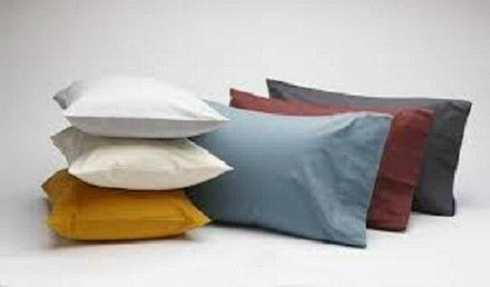 Modern Style Pair of 2 Pillow cases 100% Egyptian Cotton Sol