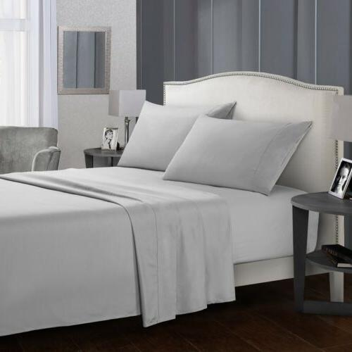 Full Size Bed Sheet Set Brushed Microfiber Sheets Bedding 3/