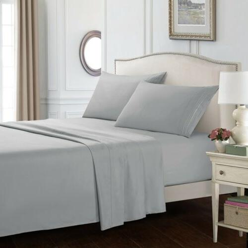 Full Size Fitted Sheet Comfortable Egyptian Soft Microfiber