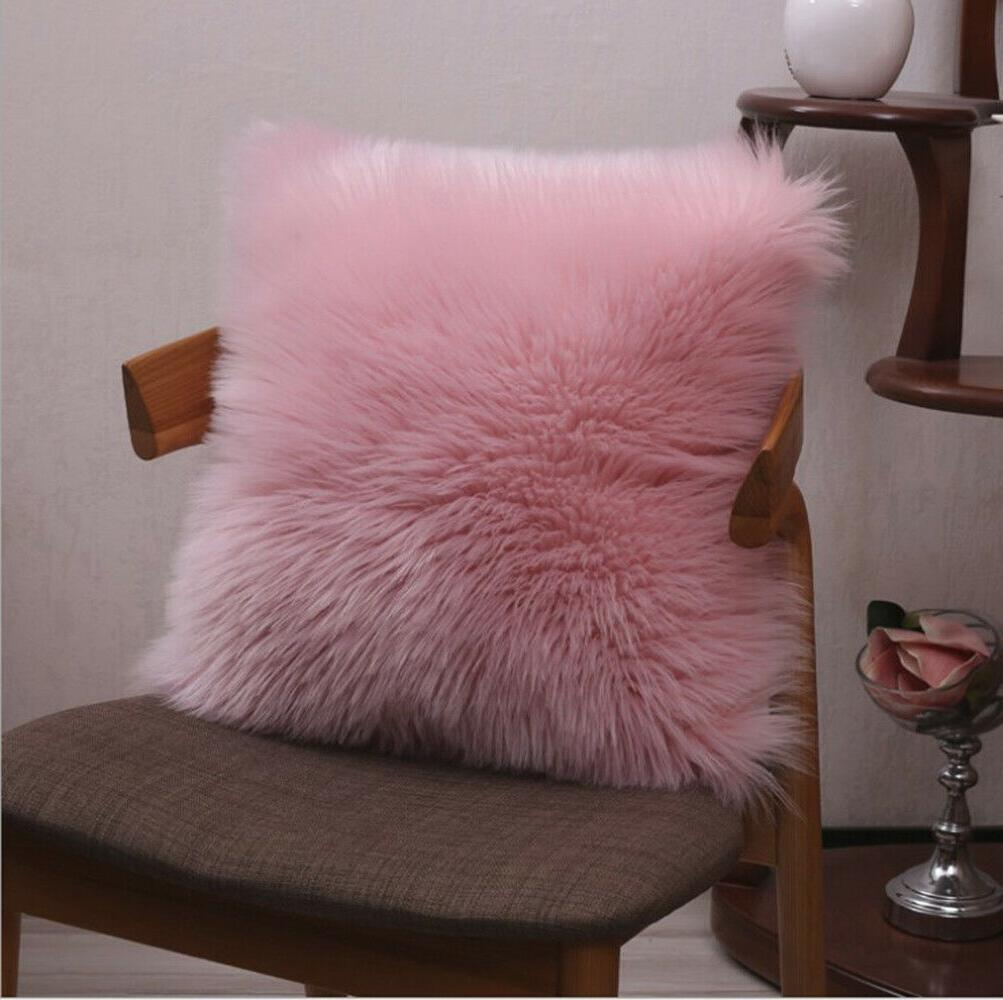 """Furry Throw 18"""" 20"""" square Solid color"""