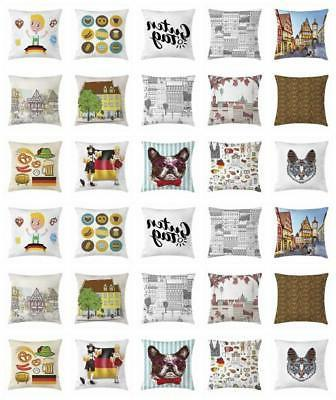 German Throw Pillow Cases Cushion Covers by Ambesonne Home D
