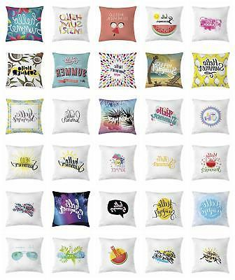 Hello Summer Throw Pillow Cases Cushion Cover by Ambesonne H