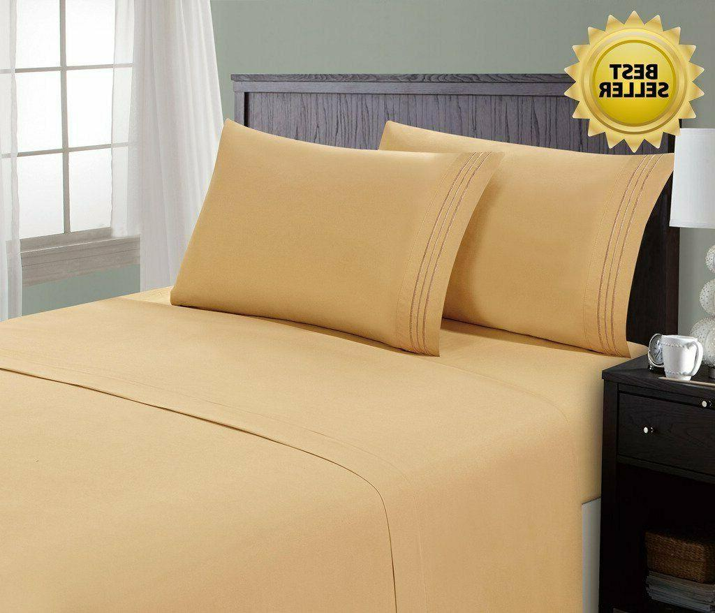 Hotel Bed Sheets Set Hypoallergenic Sheet Pillowcase