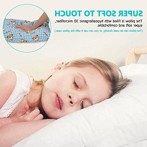 Adoric Pillow with Microfiber, 100% Pillowcase Included, Machine 14x19, for