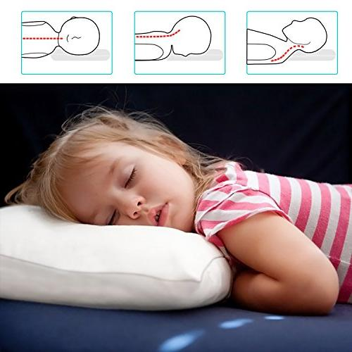 Adoric Life Pillow Hypoallergenic Microfiber, Soft Pillowcase Included, Washable, 14x19, Kids, Children,