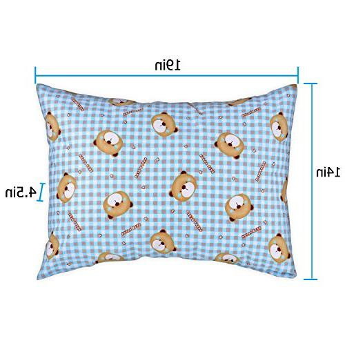 Adoric Kids Pillow with Microfiber, Pillowcase Included, Washable, 14x19, Kids,