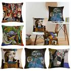 Linen Cotton Throw Pillow Case Cushion Covers Classic Painti
