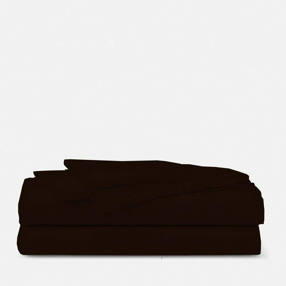 LUXURIOUS QUALITY Solid Bedding Item Chocolate RV Sheets wit