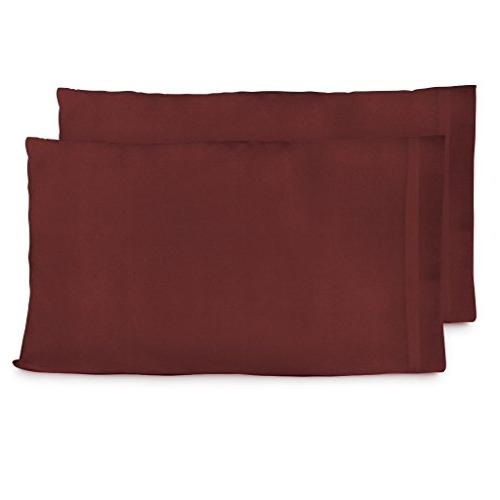 Cosy House Luxury Bamboo Standard Size - Burgundy of - Soft & Natural Cover - Resists Stains, Wrinkles, Dust Mites