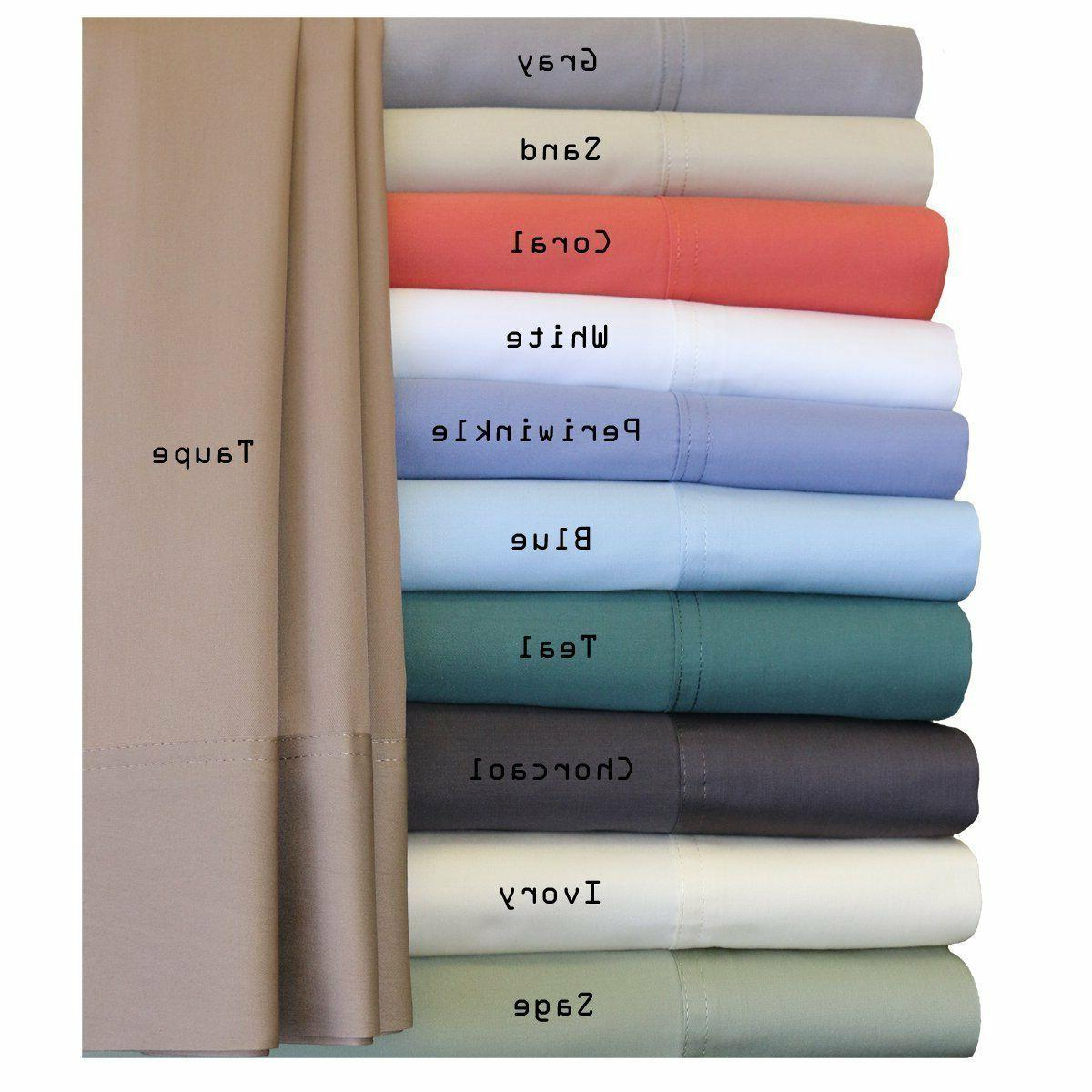 Luxury Bed Sheet Set-100% Bamboo Hybrid Cotton 300 Thread Co