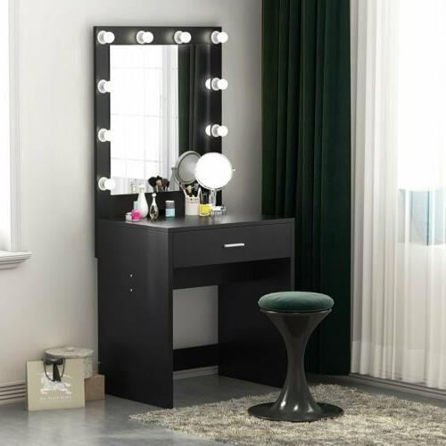 Makeup Vanity Dressing Table Set Dresser Desk for Bedroom 10