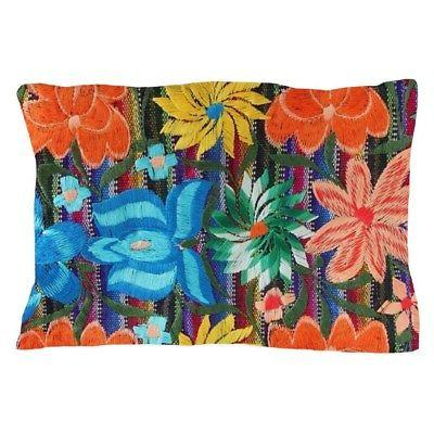 CafePress - Mexican Flower Embroidery - Standard Size Pillow