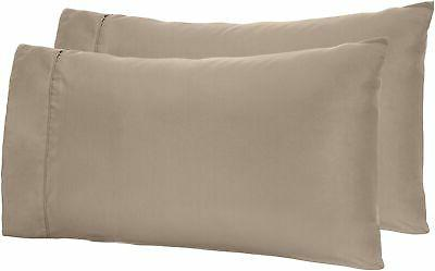 microfiber pillowcases 2 pack king taupe